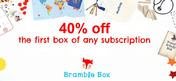 Bramble Box 40% Off First Box Cyber Monday Deal!