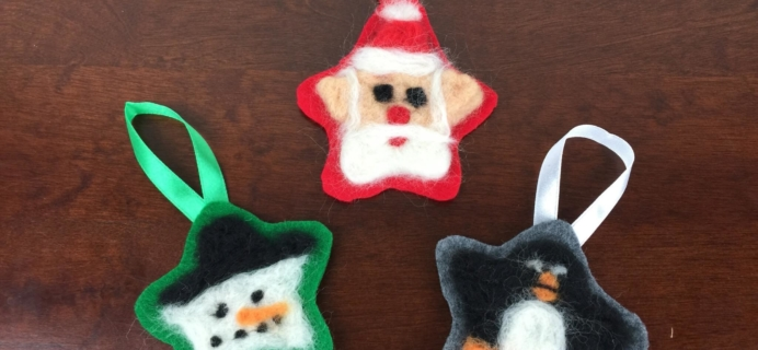 Doodle Crate Felted Ornaments Review & 50% Off Coupon