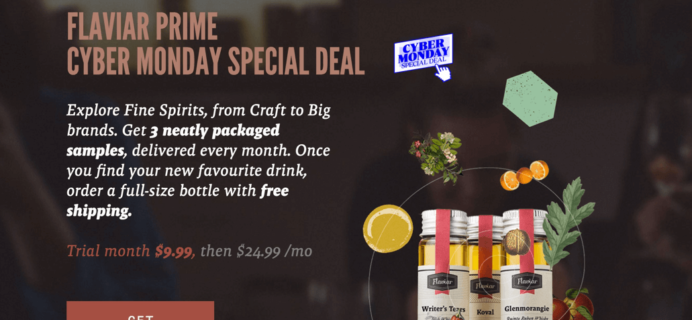 Flaviar Cyber Monday 2015 Deal: First Month $9.99 – Liquor & Spirits Subscription Box