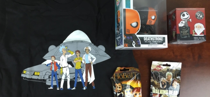 Geek Me Box October 2015 Subscription Box Review