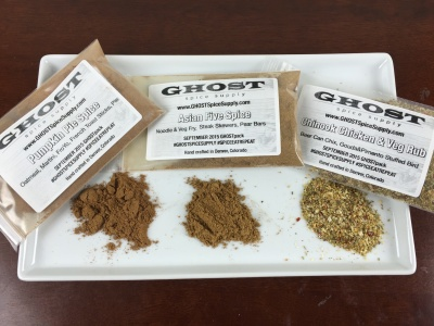 Ghost Spice Supply Subscription Review & Coupon – September 2015