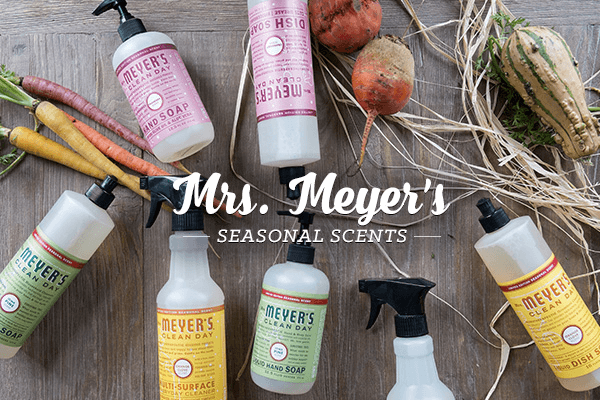 ePantry: Three FREE Mrs. Meyers Items with Subscription + Holiday Scents Now Available!