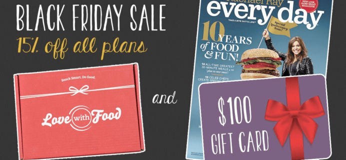 Love With Food Black Friday 2015 Deals Are Here! 15% Off All Subscriptions!