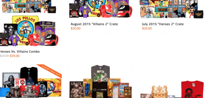 Loot Crate Black Friday Sales: Past Crates Just $20!