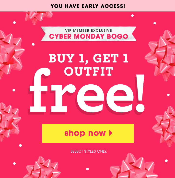 63f4d62e9e2 Fabkids Cyber Monday Deal  Buy One Get One Sale + New Members First Outfit   10!
