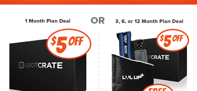Loot Crate Cyber Monday Best Deal Ever: Save $5 + Level Up Free!