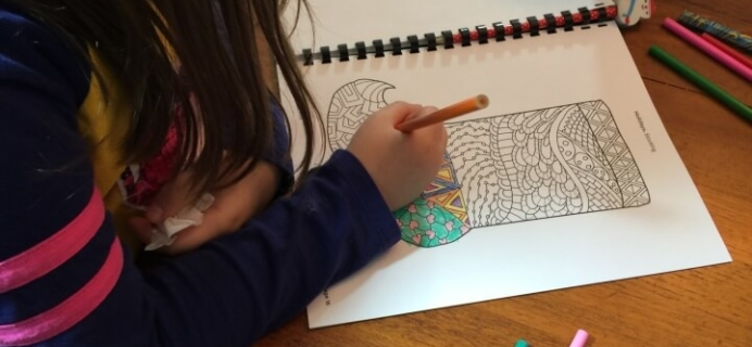 Monthly Coloring Club Subscription Review