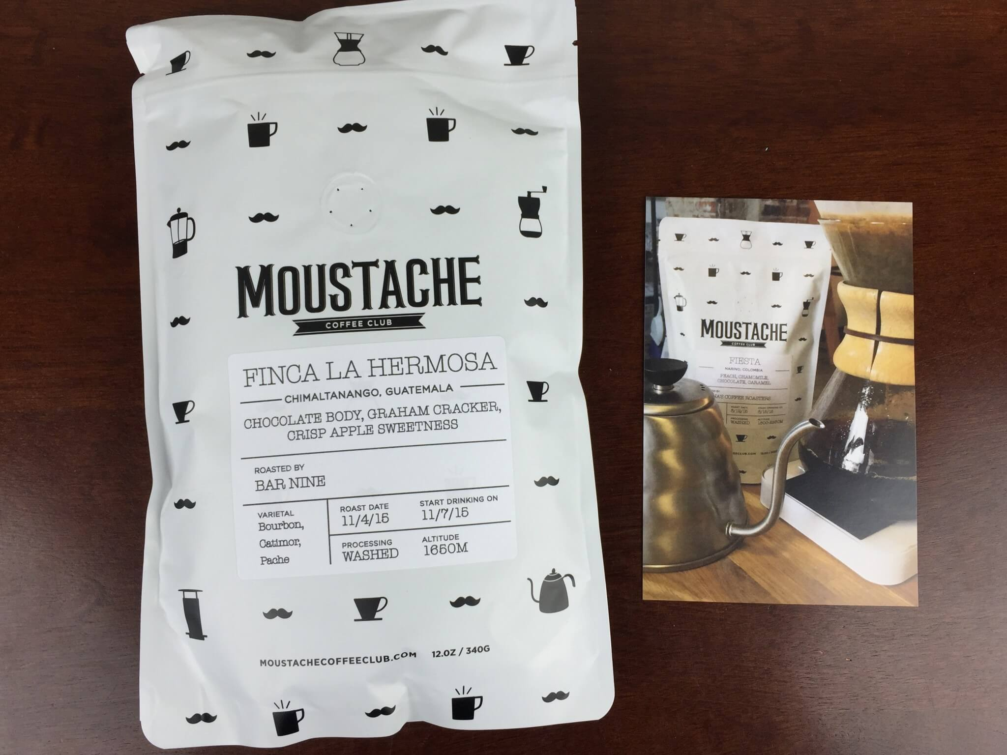 moustache coffee november 2015 unboxing