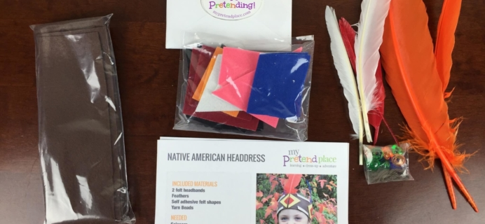 My Pretend Place Play Projects Subscription Box Review & Coupon – November 2015