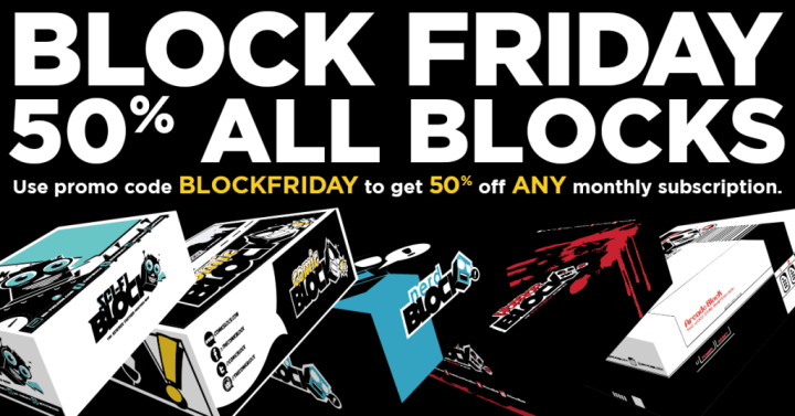 Nerd Block Cyber Monday Deal: 50% Off Any Monthly Subscription – Best Deal Ever!
