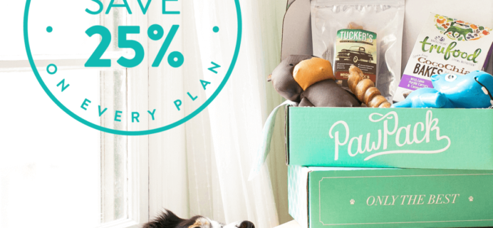 PawPack Cyber Monday Dog Subscription Box Deal – 25% Off All Subscriptions!