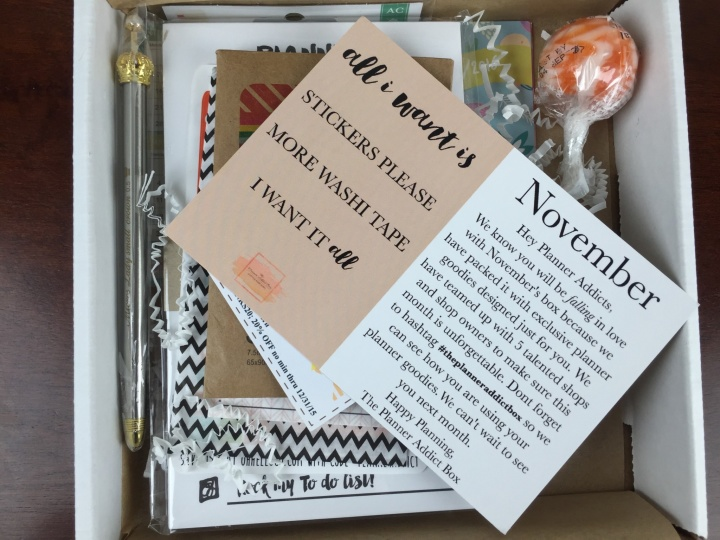 planner addict box november 2015 review