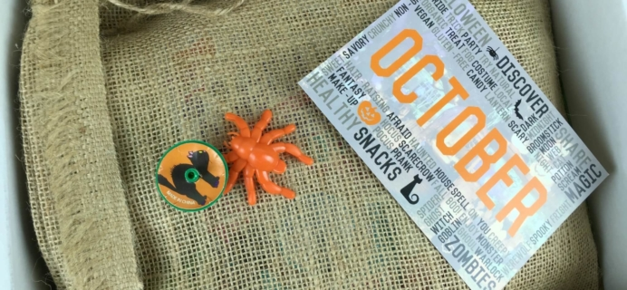 Snack Sack October 2015 Subscription Box Review & Coupon