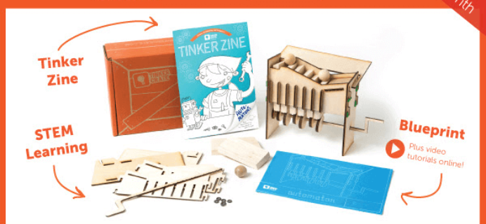 Tinker Crate Cyber Monday Deal: Half Off In Shop & Free Box Offer!