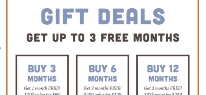 Treatsie Cyber Monday Subscription Box Deals! Up to 3 Free Months + 60% Off First Box Deal!