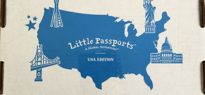 Little Passports USA Subscription Box Review & Coupon – Intro Box