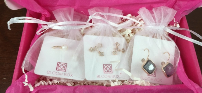 Bloom Box Earring Subscription Box Review – December 2015