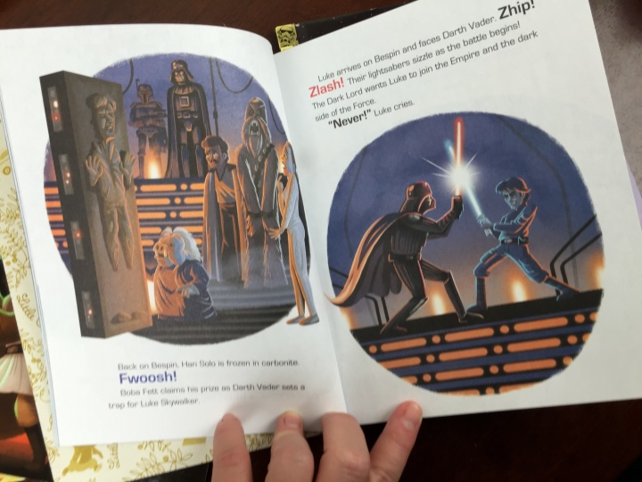 Loot Crate Star Wars Limited Edition Box 2015 inside little golden book