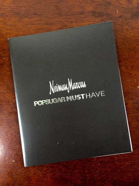Neiman Marcus POPSUGAR Must Have 2015 Special Edition information card front