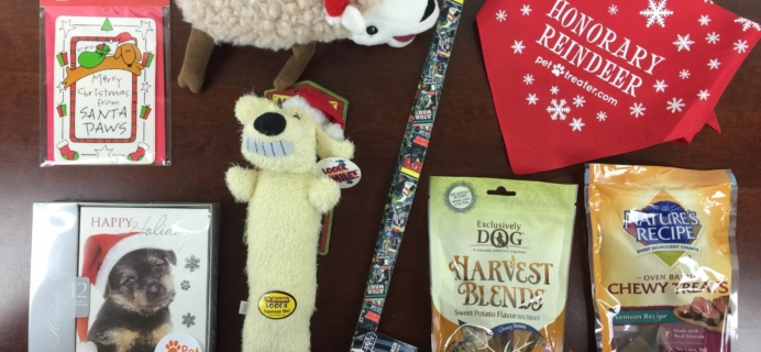 Pet Treater December 2015 Dog Subscription Box Review + Free Pet Bed Coupon!
