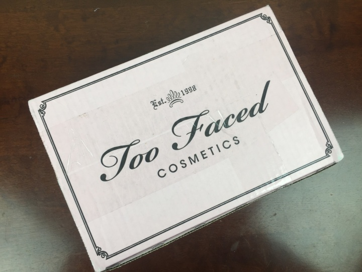 Too Faced Mystery Bag Review 2015 box