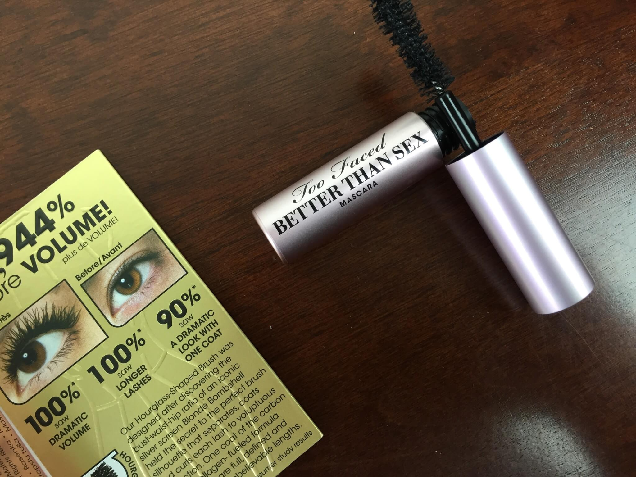 Too Faced Mystery Bag Review 2015 mascara