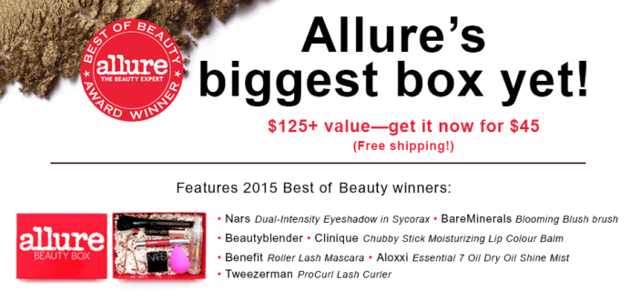 Allure Beauty Box Limited Edition Box On Sale Now!