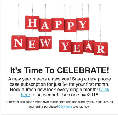 Phone Case of the Month Happy New Year Sale – First Month $4