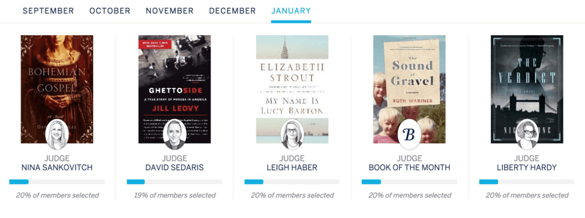 Last Day for  January 2016 Book of the Month + Coupon