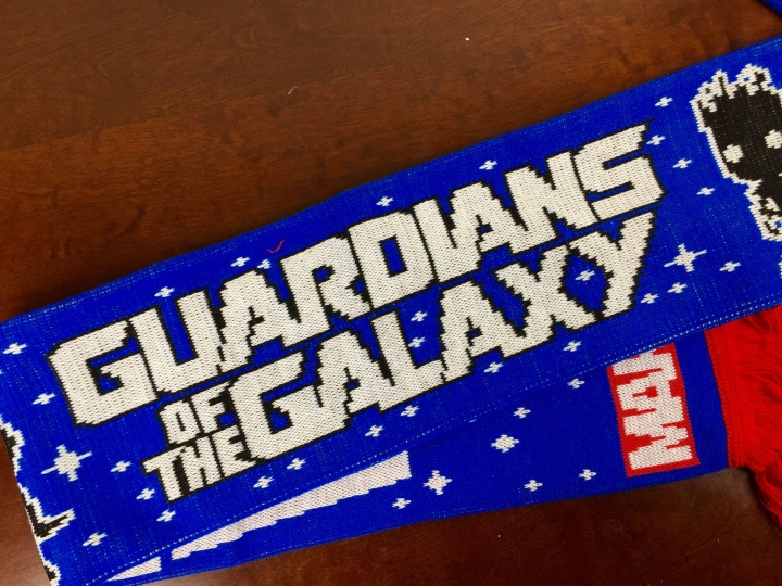 marvel subscription box december 2015 guardians of galaxy scarf