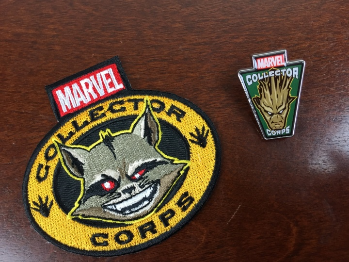 marvel subscription box december 2015 patch pin