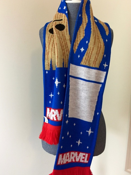 marvel subscription box december 2015 scarf groot