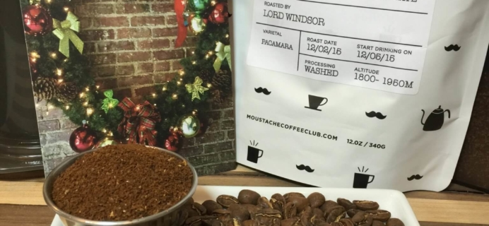Moustache Coffee Club December 2015 Subscription Review + Free Trial