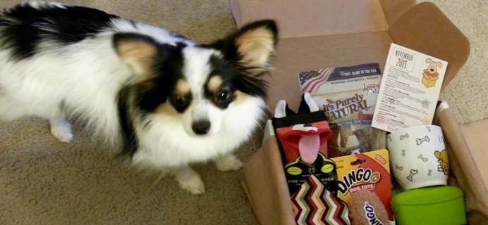 Wigglebutt Box Dog Subscription Box Review – November 2015