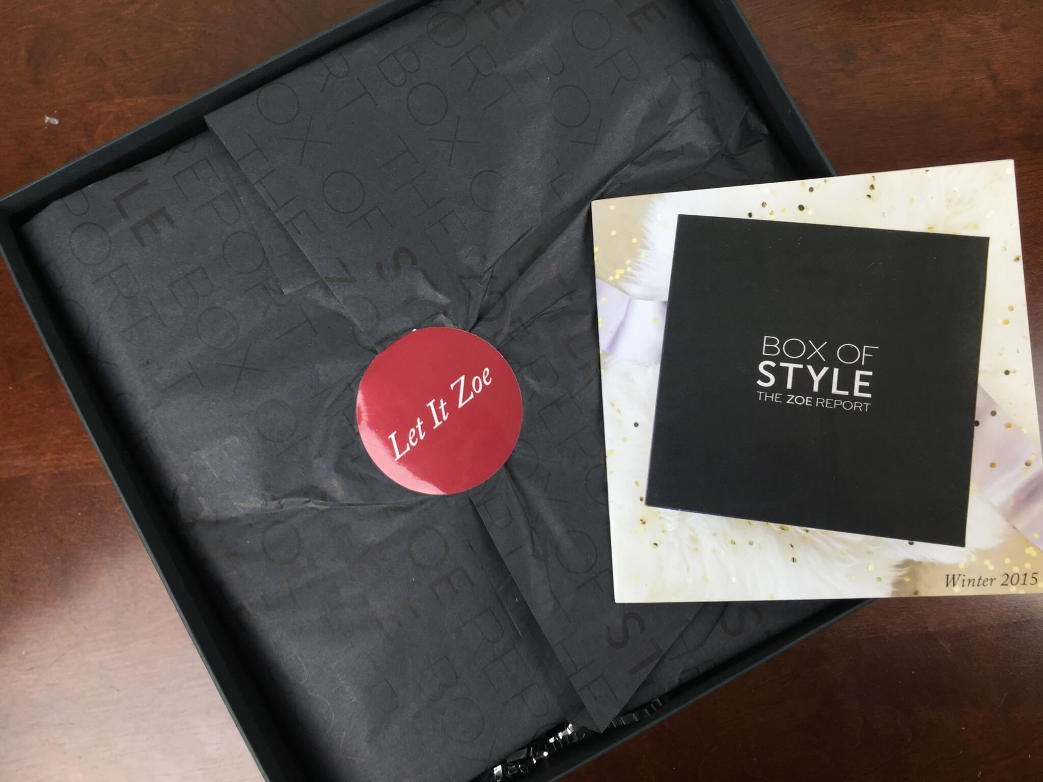 Rachel Zoe Box of Style Winter 2015 Review + Coupon