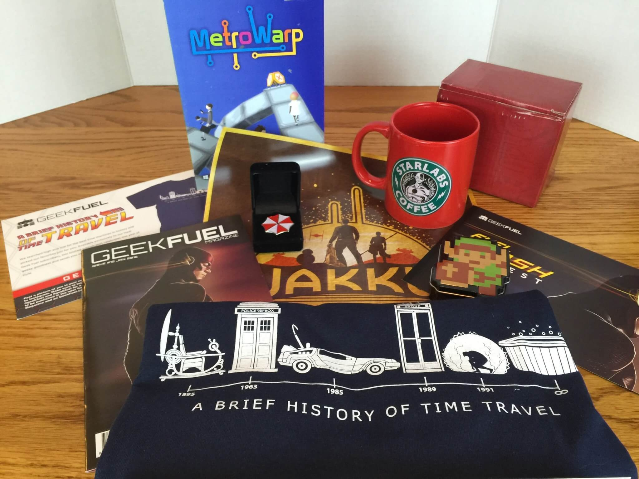 Geek Fuel Monthly Mystery Box – January 2016 Review & Coupon