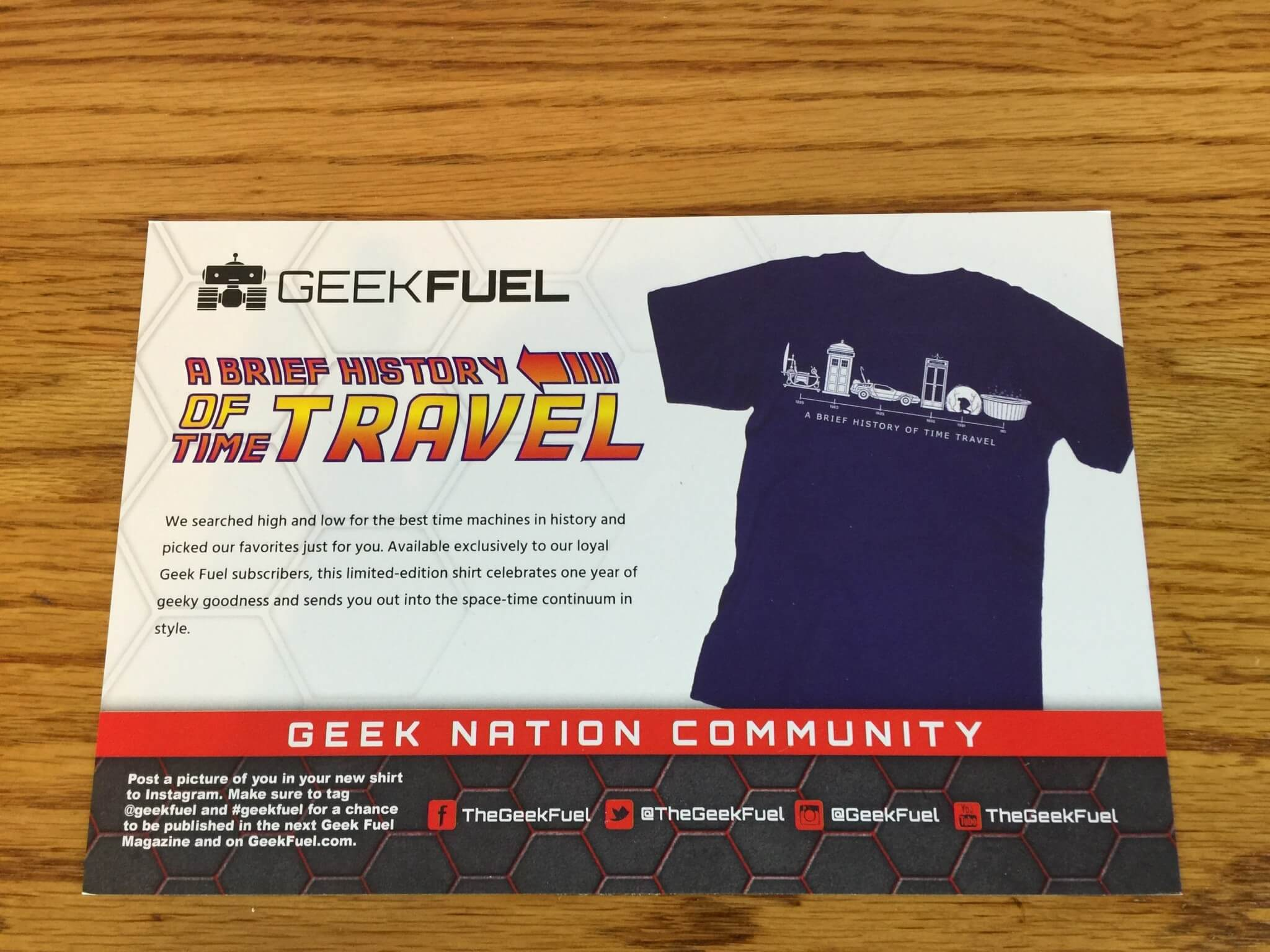 Geek Fuel Monthly Mystery Box January 2016 Review Coupon Hello Circuit Board Tshirt Computer Tee Mens Shirt The Description Card Gives You A Rundown Of What Is In And Also Where To Follow On Social Media