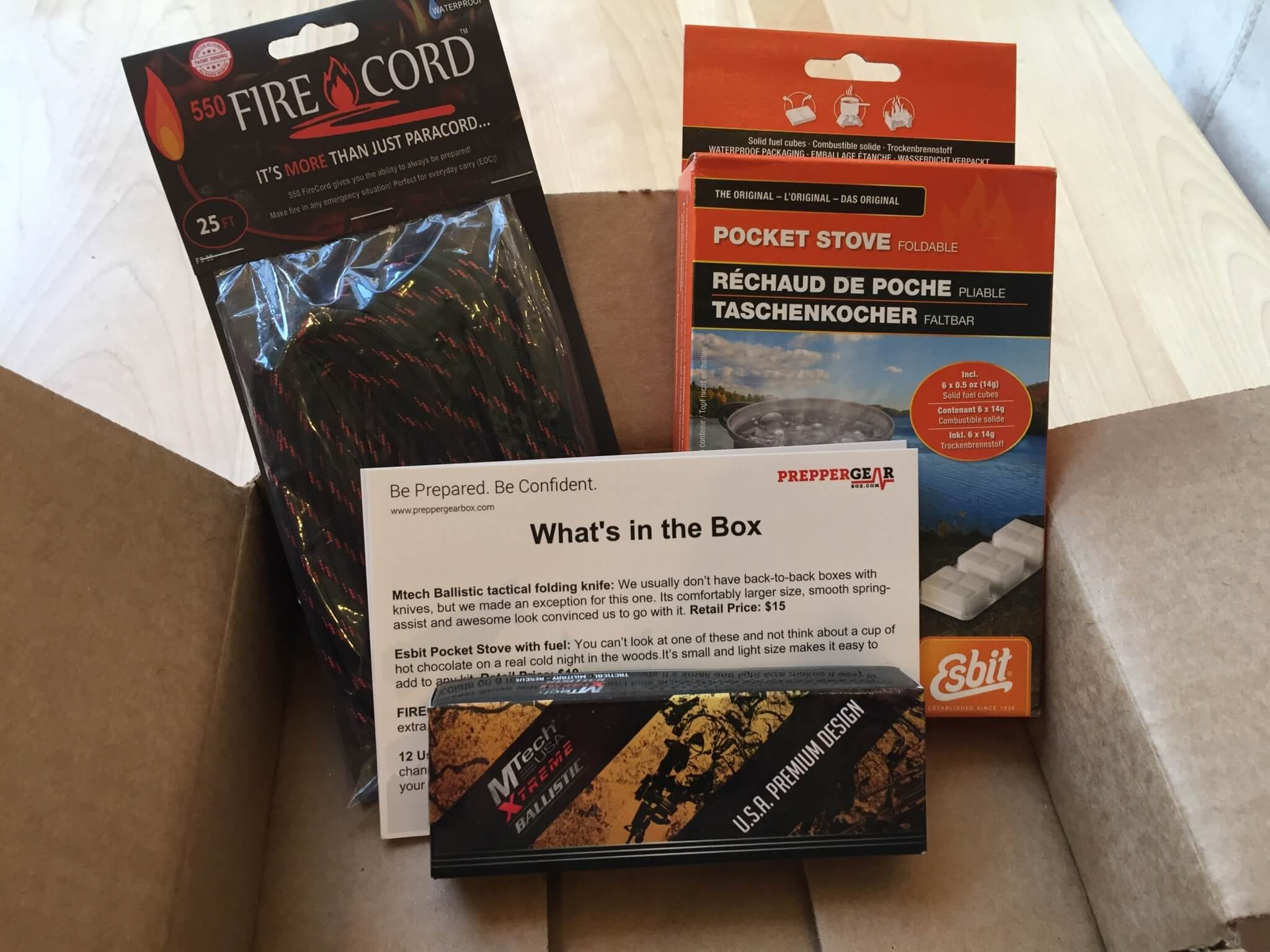 Prepper Gear Box February 2016 Subscription Box Review & Coupon