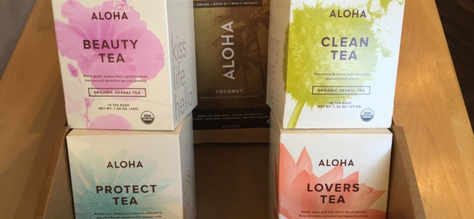ALOHA Organic Tea and Powdered Coconut Water Review + Free Trial Offer