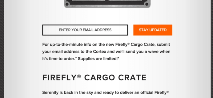 Loot Crate Firefly Cargo Crate Box Coming Soon!