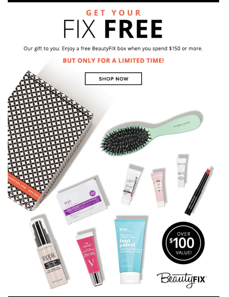 Free BeautyFIX with $150 Dermstore Purchase or First Box 50% Off Coupon