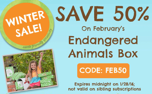 green kid crafts coupon save 50 on february 39 s box