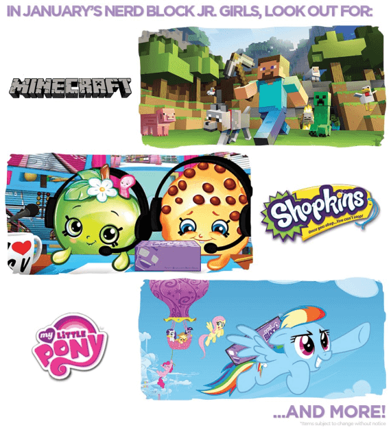 Nerd Block Jr. January 2016 Spoilers & Coupon – Girls + Boys