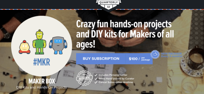 New Quarterly Maker Box – First Quarter from Boing Boing!