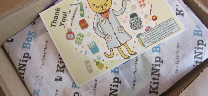 KitNipBox Review & Coupon – Cat Subscription Box – January 2016