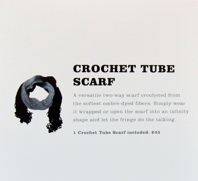 Jules Smith Crochet Tube Scarf