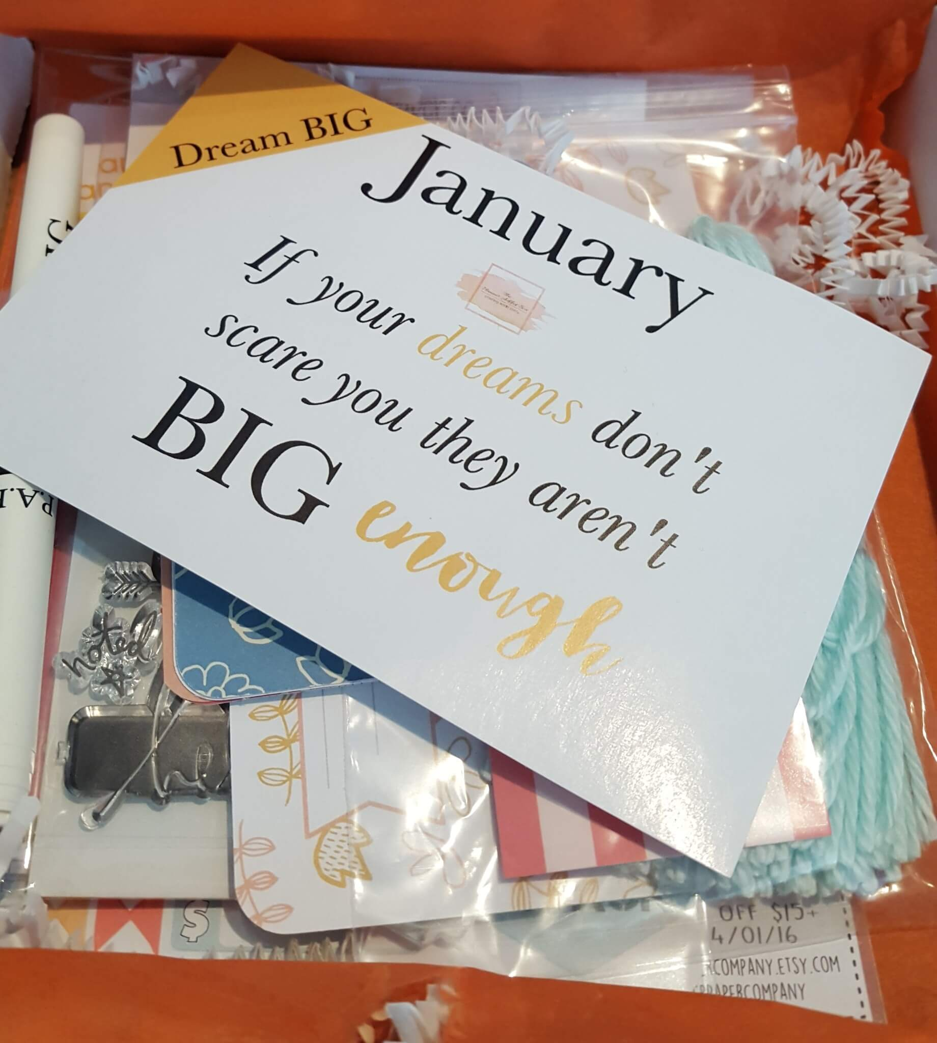 The Planner Addict Box January 2016 Subscription Box Review