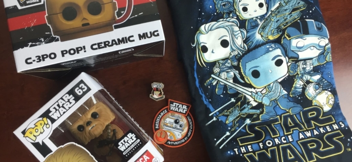 January 2016 Smugglers Bounty Star Wars Subscription Box Review – The Force Awakens – The Resistance!