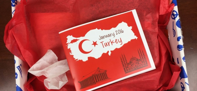 Universal Yums January 2016 Subscription Box Review – Turkey