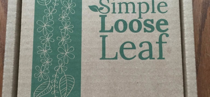 Simple Loose Leaf Tea May 2016 Subscription Box Review + Coupon 50% Off